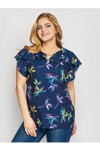 Блуза женская Альбина синяя