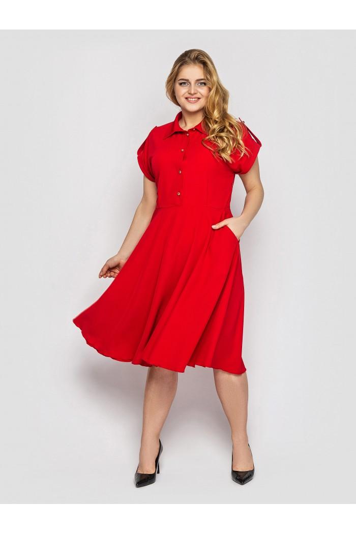 Платье Альмира алого цвета