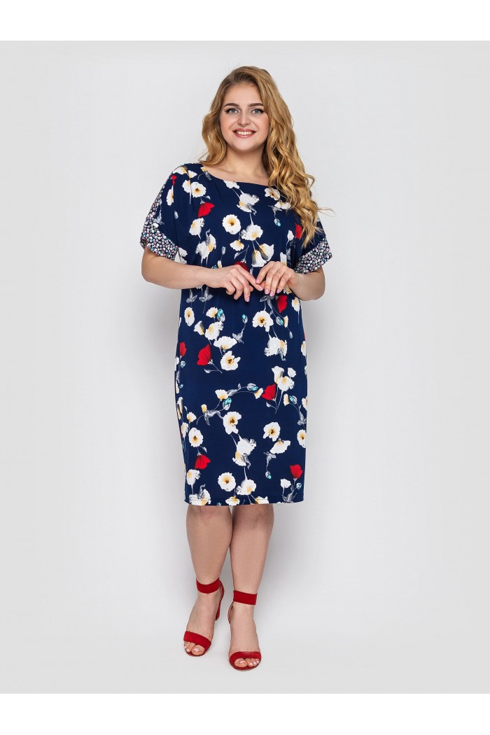 Платье Дениз синее