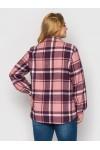 Рубашка теплая в клетку Слава розовая
