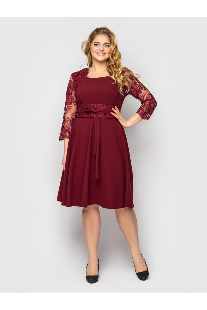 Платье нарядное Кэрол бордо