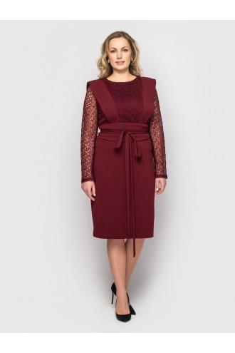 Платье женское Беатрис бордо