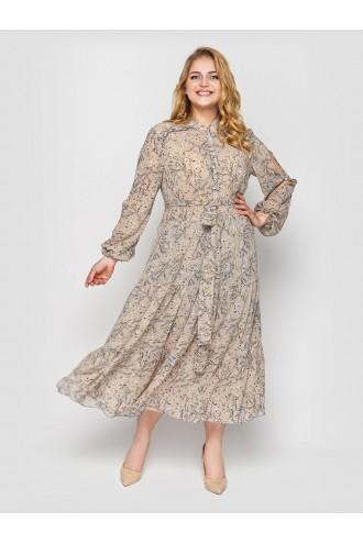 Платье Юнона бежевое