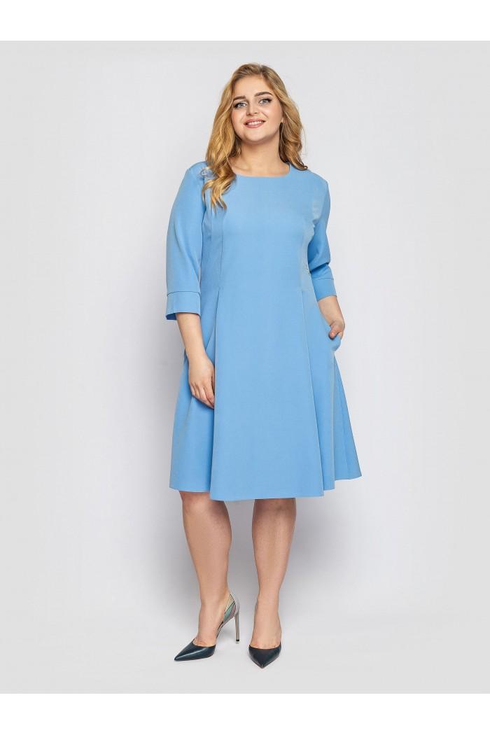 Платье Милана голубое