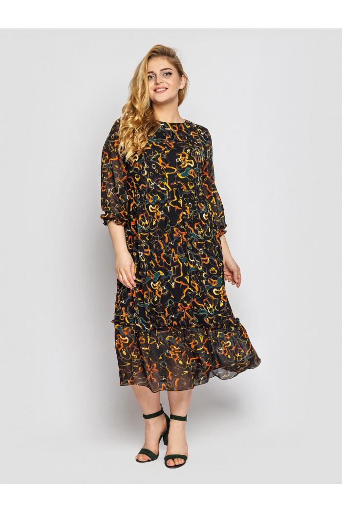 Платье Андрэа охра