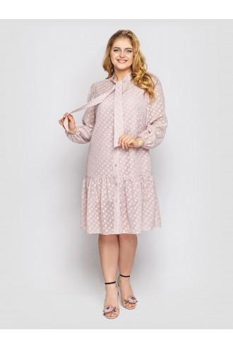 Платье с длинным рукавом Эра пудра
