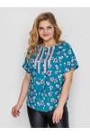 Блуза женская Роял бирюза