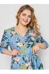 Платье женское Лиза голубое