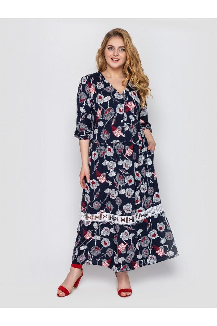Платье женское Лиза синее