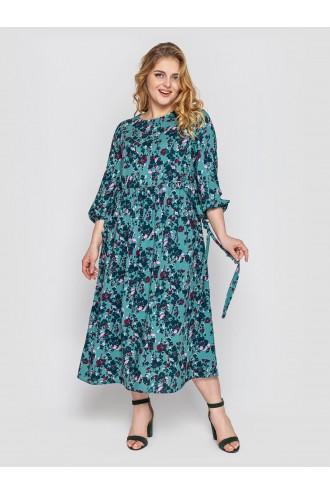 Платье женское Ярослава изумруд