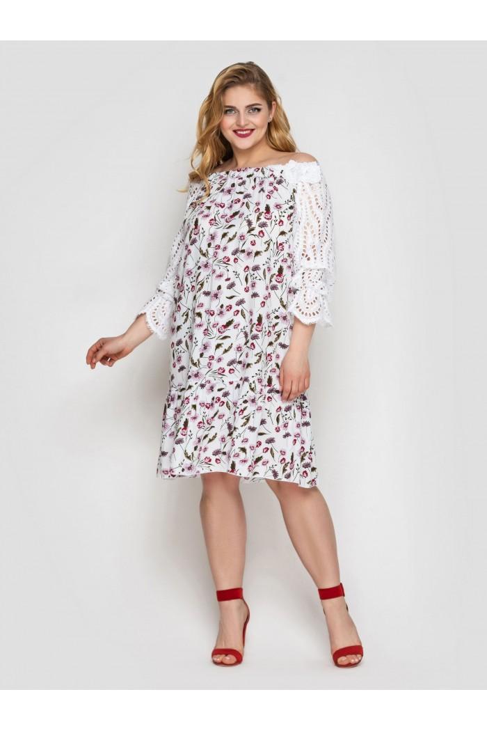 Платье летне Матильда белое