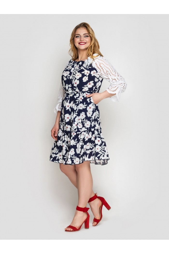 Платье летне Матильда синее