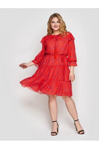 Летнее платье Валенсия коралл