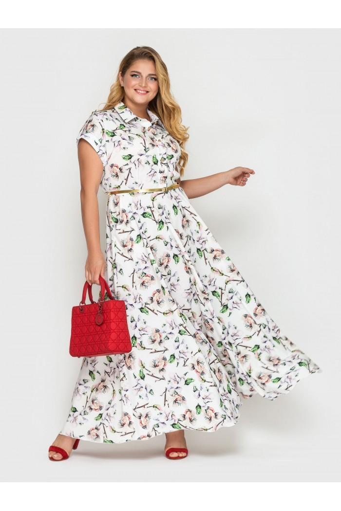 Платье Алена флора