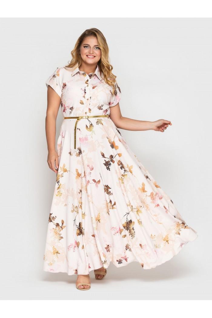 Платье Алена пудра