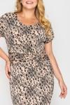 Платье Белла леопард