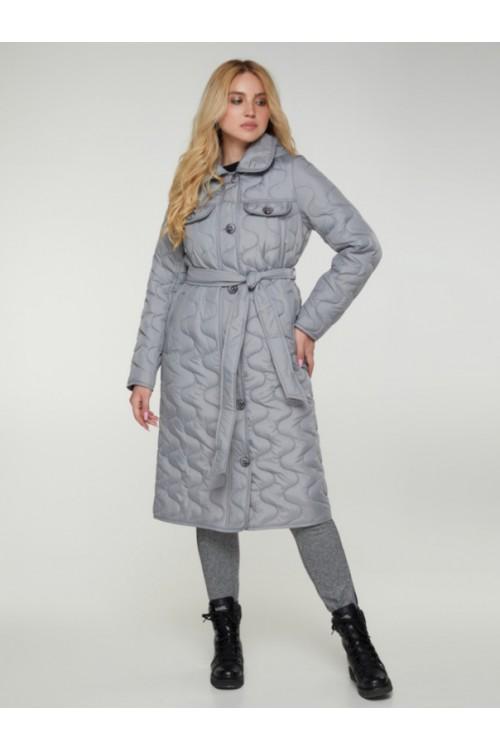 Пальто демисезонное Амели серый