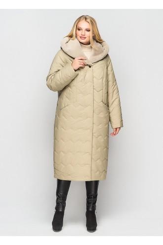 Зимнее пальто Эрика фисташка