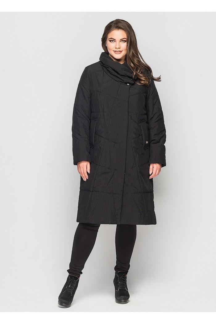 Зимнее пальто Хина черный