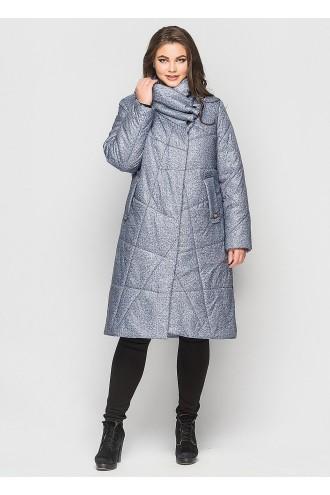 Зимнее пальто Хина серый