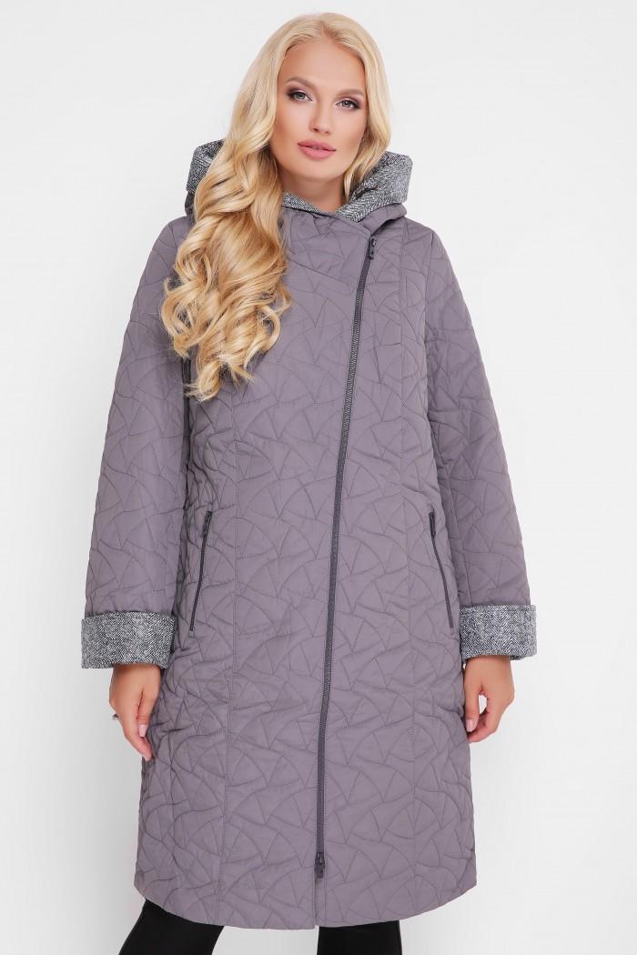 Женская демисезонная куртка Косуха темно-серое