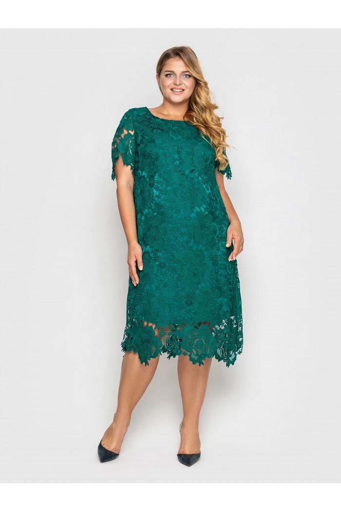 Платье  Элен изумруд