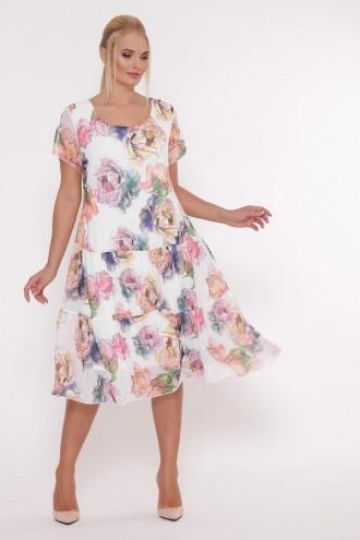 Платье Катаисс Белый пион
