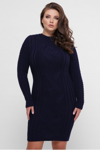 Платье орнамент синий