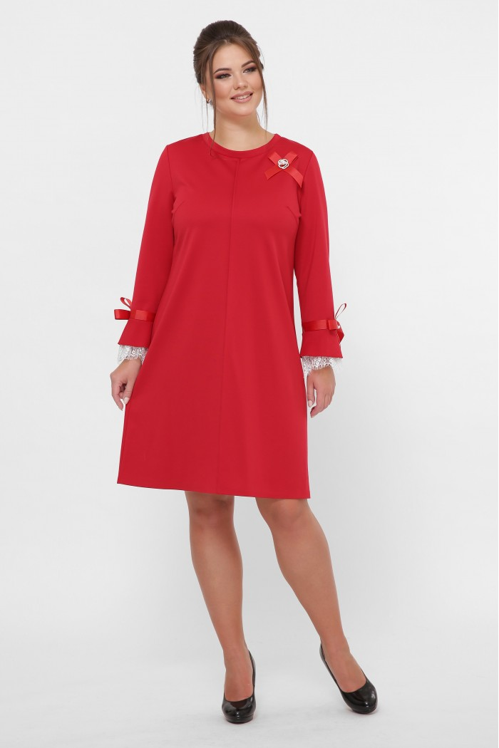 Нарядное платье Майя красное