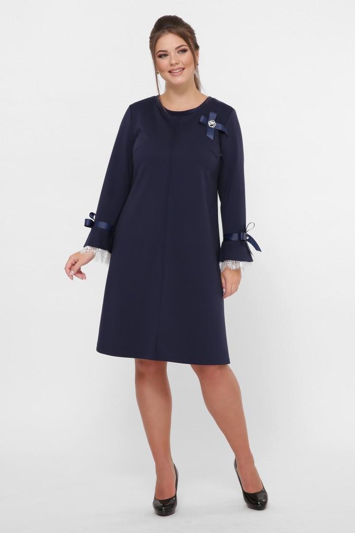 Нарядное платье Майя синее