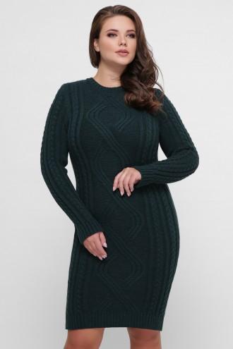Платье орнамент изумруд