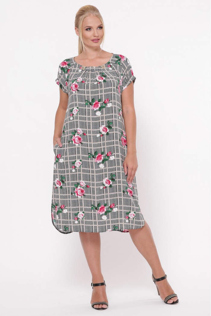 Платье летнее женское Палитра клетка