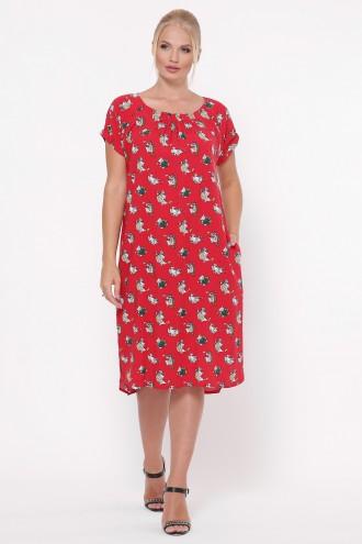 Платье летнее женское Палитра красное