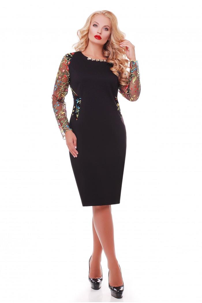 Платье Адель Черное разноцвет
