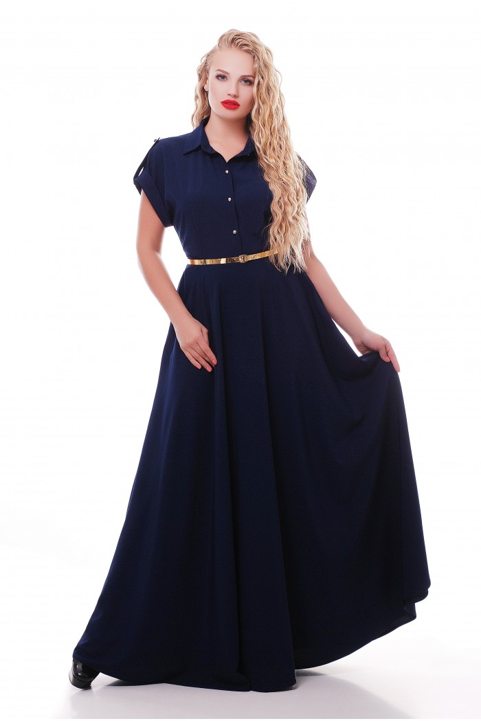 Платье Алена Синее