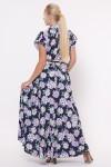 Платье Алена Гортензия синее