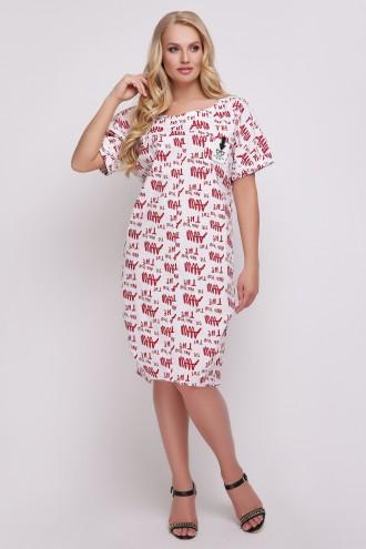 Платье Бриджит Газета Красная
