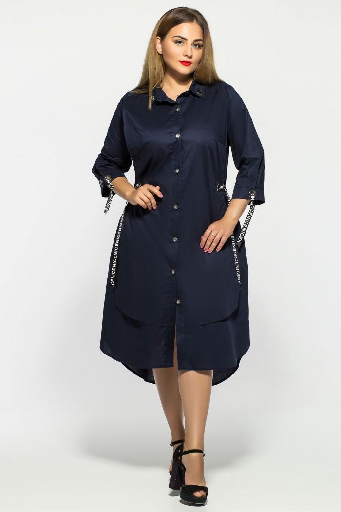 Платье Евгения Синее