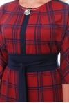 Платье Кэтлин бордо клетка