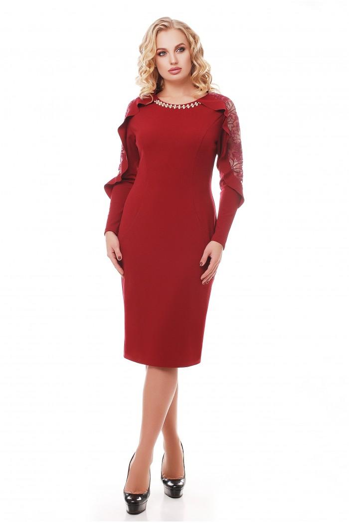 Платье Рамина Бордо