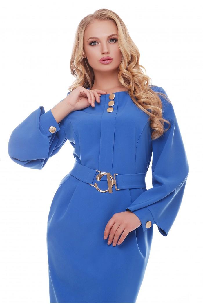 Платье Екатерина Васильковое