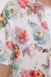 Платье-рубашка Сати Белое