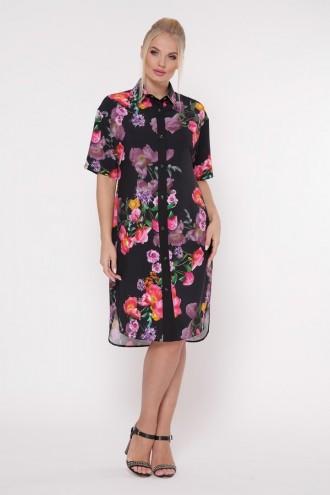 Платье-рубашка Сати Шиповник