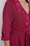 Расклешенное платье Паула марсала