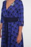 Платье расклешенное Луиза электрик