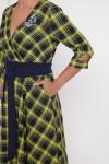 Платье расклешенное Луиза горчица