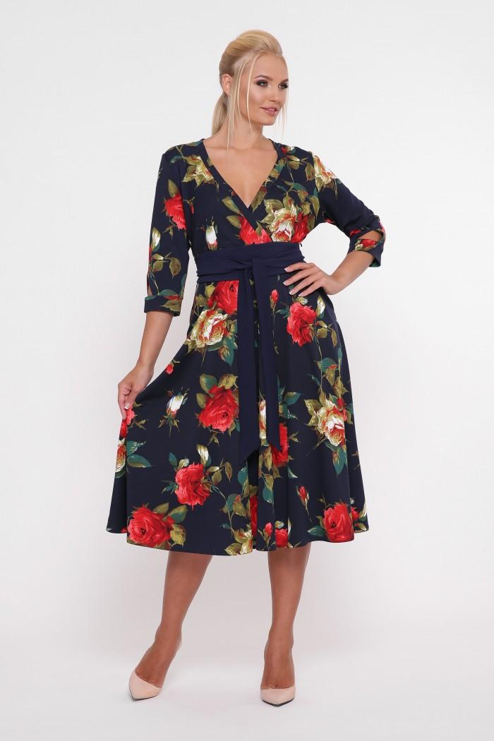 Платье расклешенное Луиза розы