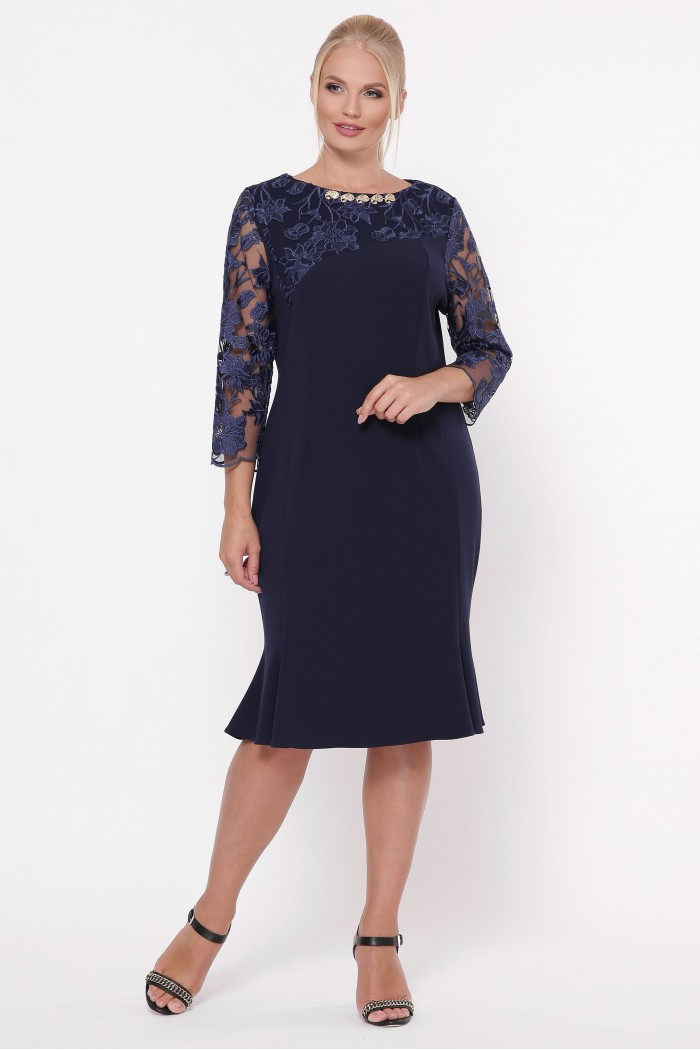 Романтическое платье Аннэт синий