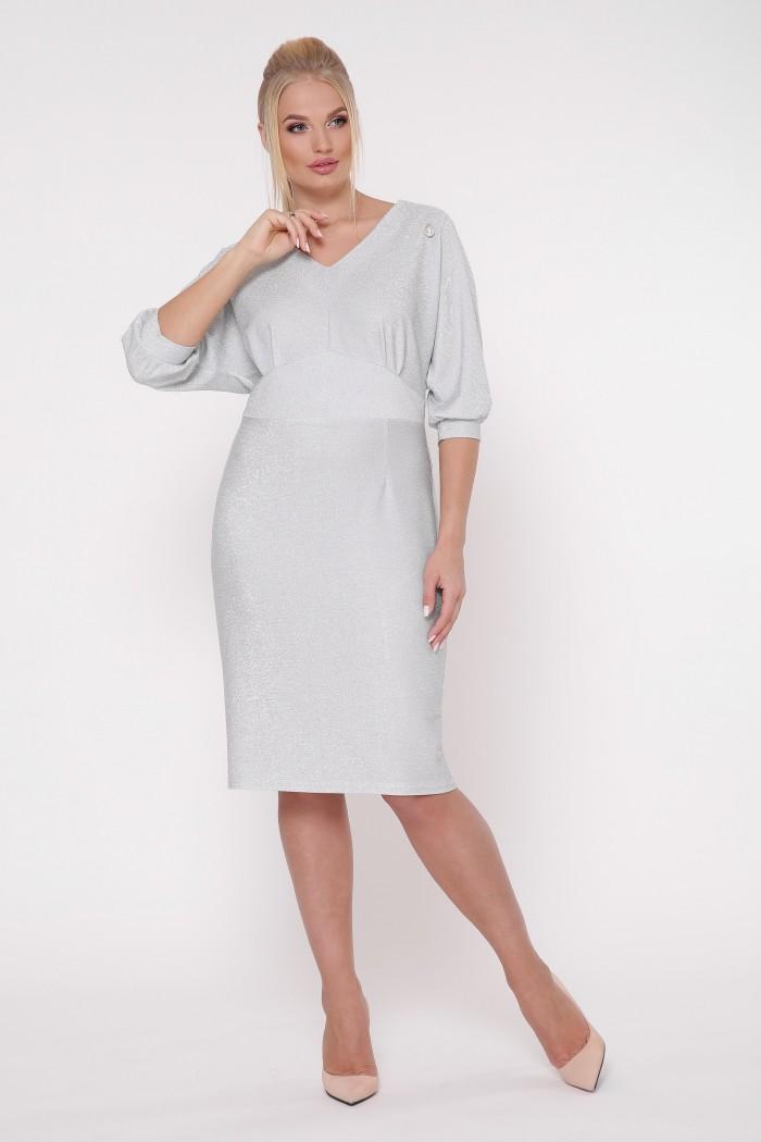 Платье нарядное Афина серебро