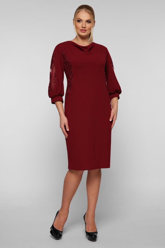 Коктейльное платье Сандра бордо